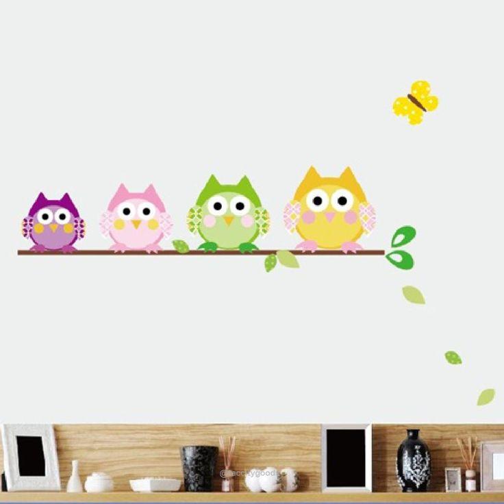 Cartoon Owl Removable Vinyl Art Wall Decal-Home Decor-Tac City Goods Co. https://www.taccitygoods.com/products/cartoon-owl-removable-vinyl-art-wall-decal