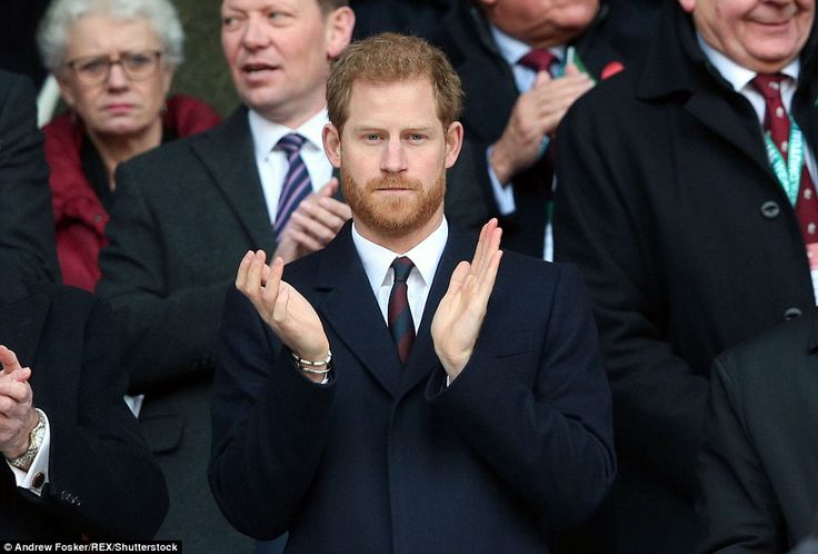 The Prince clapped during the match as he watched the players continue to battle for a win...