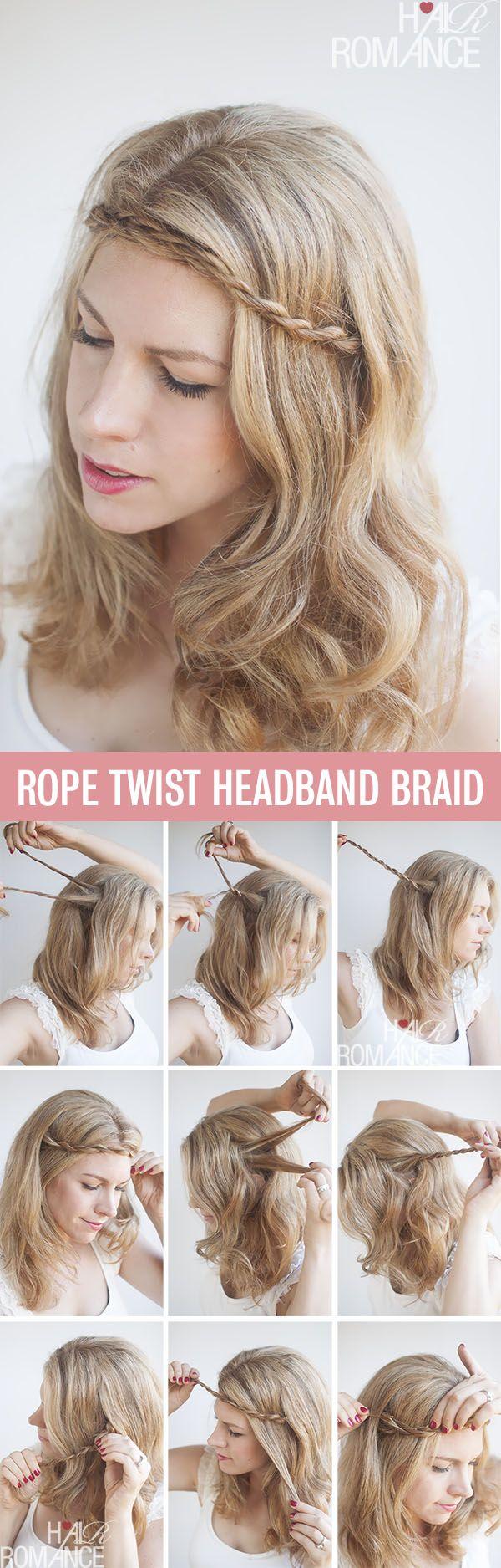 Best 25+ Braid Headband Tutorial Ideas On Pinterest  Braid Headband,  Braided Headband Tutorial And Front Braid Tutorials
