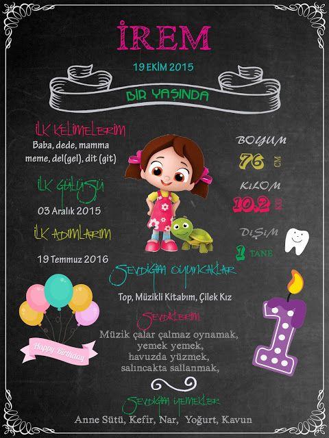 Yeni Chalkboard Siparişi Hazır - Neşeli Süs Evim - Ücretsiz Doğum Günü Süsleri