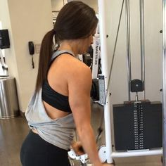 A lot of requests lately for a tricep workout- so here you go! It's a reverse grip with a bar on a cable machine. I recommend doing a drop set until failure on these. What does that mean? Start as heavy as you can and do as many reps as you can. Then drop the weight. Same cycle until you physically can't do anymore. Don't rest until you're done either. Don't take breaks. And no- this won't help with back arm flab- that's all diet. You don't get to pick where the fat goes on and you don't get…