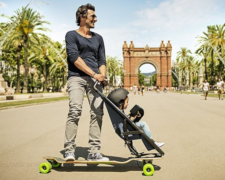 quinny longboardstroller is a fresh approach to urban family mobility