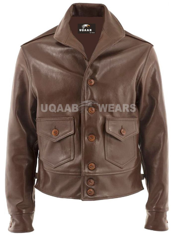 Naval Mariner Pilot Jacket Real Leather Stand Up Collared Flying Boats  Jacket #UQAAB #BomberHarrington