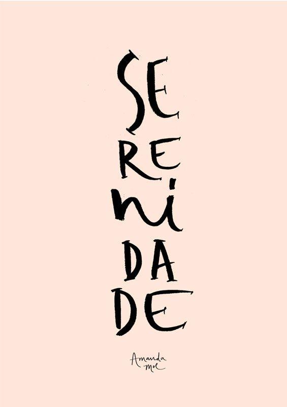 Lettering Serenidade | Amanda Mol