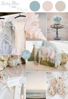 2015 trending dusty blue and blush pink beach summer wedding color ide