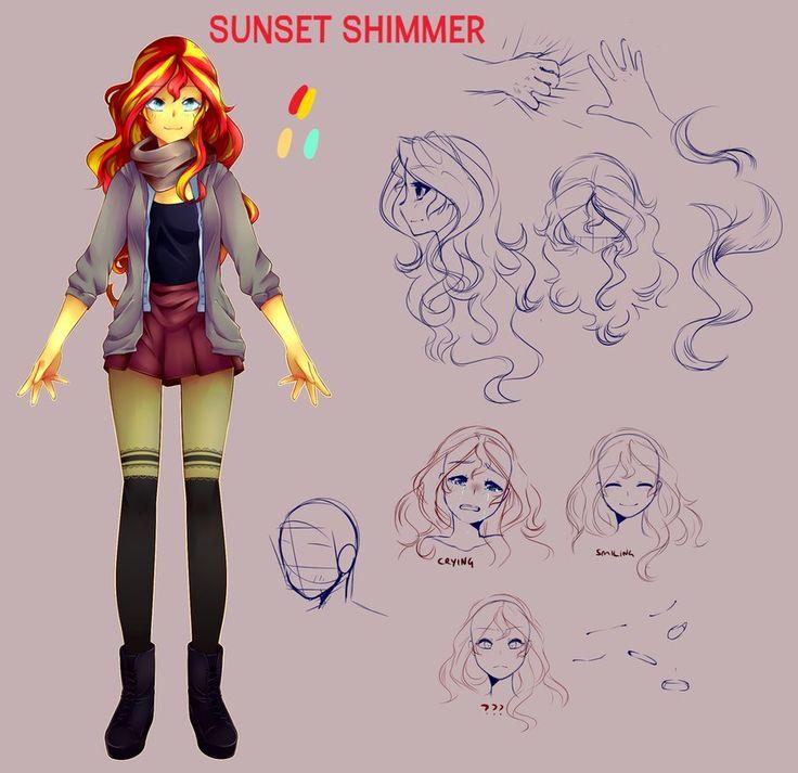 Sunset Shimmer - studying by SlLVERTRASH