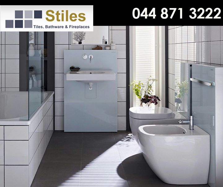 Geberit #sanitary products ensure safe and reliable operation while giving your bathroom an attractive look. Come visit #StilesGeorge showroom for our exclusive range of tiles, bathware and fireplaces.