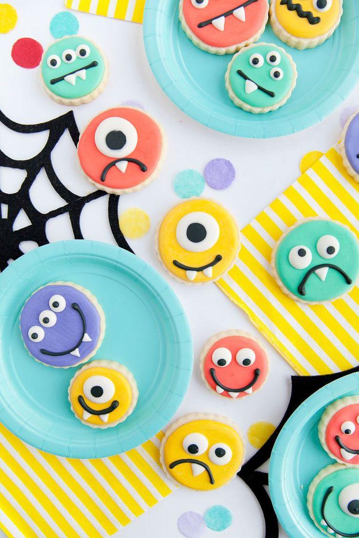 Monster Halloween Cookies: 47 Best Monster Cakes / Ideas Images On Pinterest