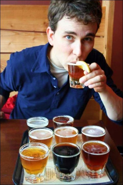 the link didn't go anywhere, but he's still a cutie! tasting craft beer in PDX