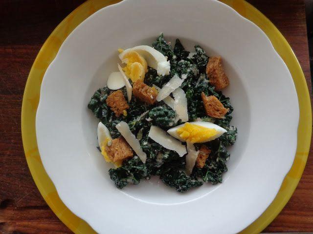 Wat ik gegeten heb: Salade van cavolo nero (of boerenkool) met Caesar ...