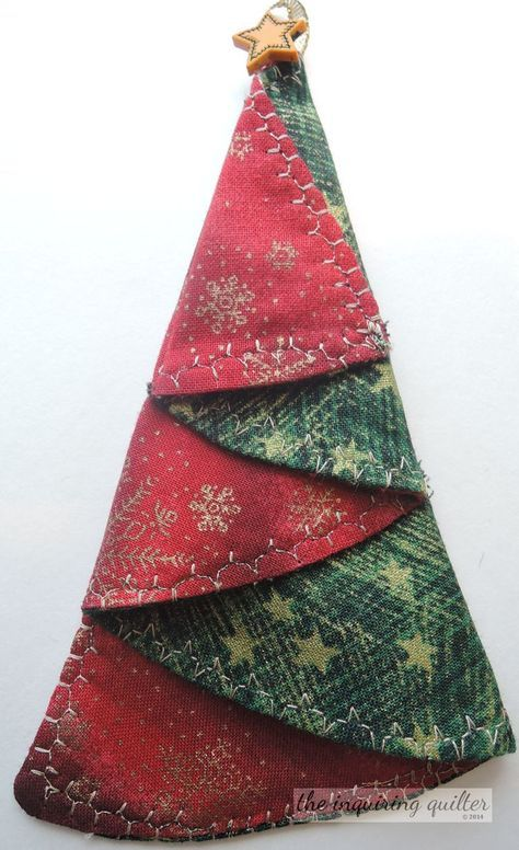 Day Seven Folded Fabric Christmas Tree Ornament Christmas Ideas