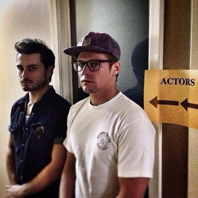 Actors on set today