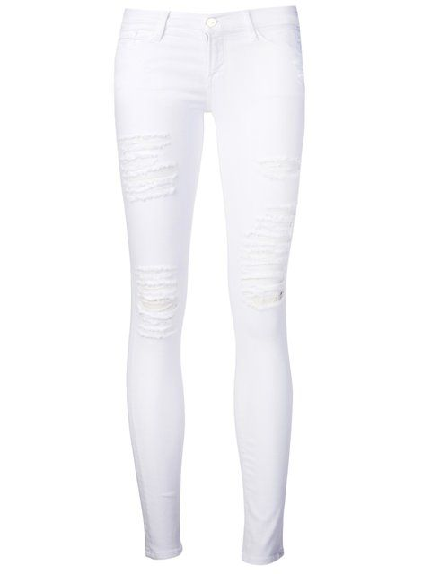 Shop Frame Denim 'Le Color' skinny jeans.