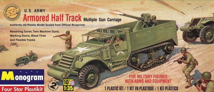 Monogram® Armored Half Track Plastic Model Kit 1/35 scale # 85-0034. SSP limited edition!
