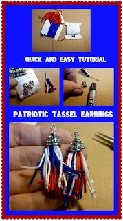 Make it easy crafts: Patriotic tassel earrings