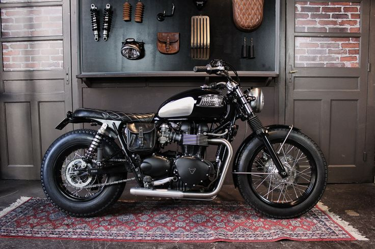 Triumph Bonneville DANDY BONNIE created by BAAK workshop in Lyon (France), based on a 2015 Triumph Bonneville T100 black.