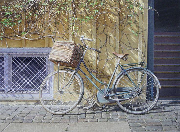Vélo à Copenhague -2 Thierry Duval 30 x 40 cm