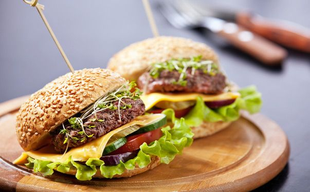 Barmy for a burger? Put your feet up & sink your teeth into one of our gorgeous Greek Lamb Burgers