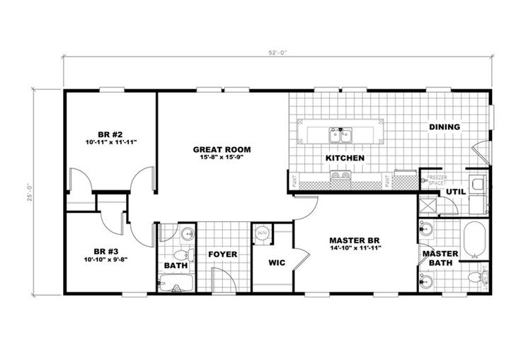 Oakwood Homes of Greenville manufactured or modular house details for THE SWEET RETREAT MODULAR home.