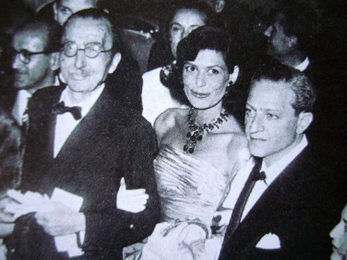 Nikos Kazantzakis with Melina Mercouri & Jules Dassin in the 50s