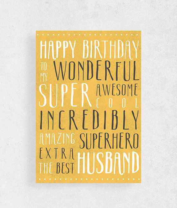 Happy birthday card for Husbandfunny card for by WeJustLikePrints #cardforhusband #funnybirthdaycard #Happybirthday #greetingcard #birthdaycard #greetingcardforhusband #giftforhim