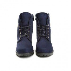 tmavo-modre-damske-topanky-zimu-so-zlatym-zipsom-ciernom-nizkom-podpatku (2) 3f863386058