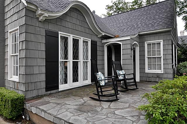 Black And Gray Exterior House In Lakeside Curb Appeal On Pinterest Exterior Colors Front Porches And Walkways