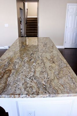 Yellow River Granite Countertops White Cabinets More Than the Mulberries