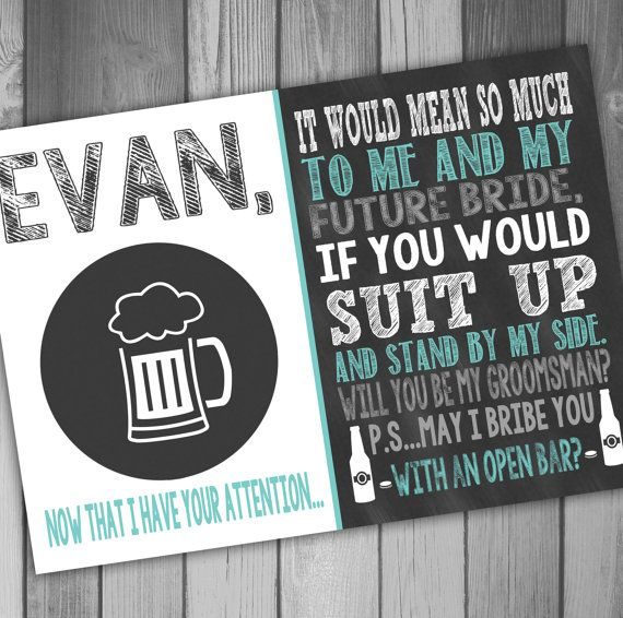118 best will you be my groomsman images on pinterest beer groomsman invitation groomsmen invitation will you be my groomsman funny will junglespirit Image collections