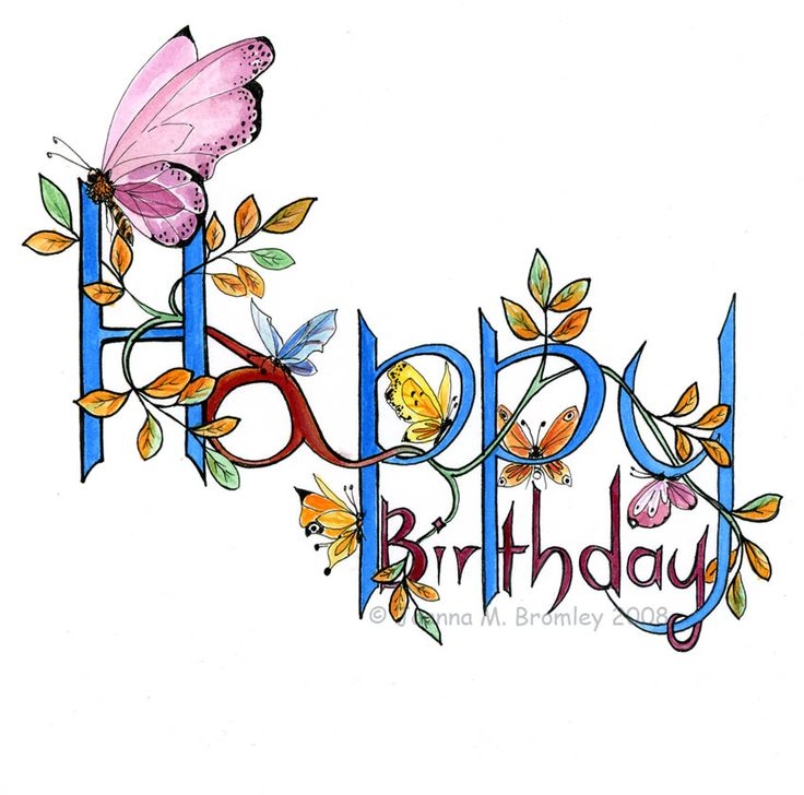 calligraphy birthday cards - Google Search