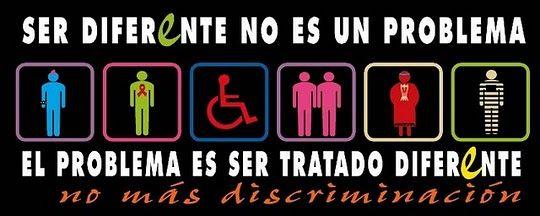 NO a la discriminacón