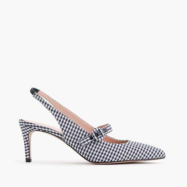 42f625f2a28 colette strappy slingback d orsay pumps in gingham   women shoes