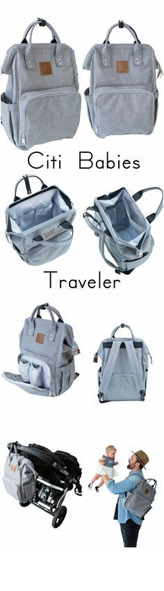 The most versatile, stylish diaper bag back pack around. Unisex design makes Dad beg to carry this bag.