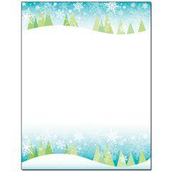Snowy Trees Letterhead