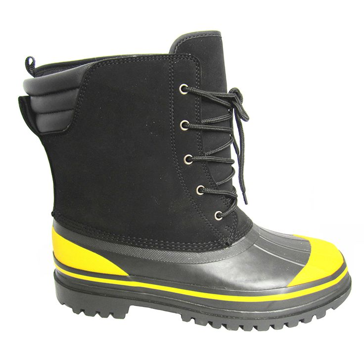 Men's waterproof snow boots, removable lining. Model#: CRTL020