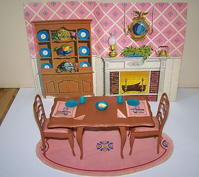 Vintage Barbie Dining Room Go Together Furniture Mattel S