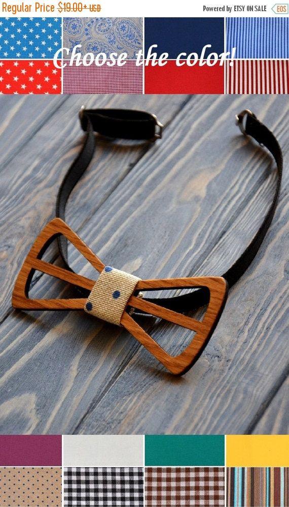 ON SALE Wooden bowtie Oak Wedding party bowtie Figure cut Groomsmen, best man bowtie. Men gift Father Day Gift