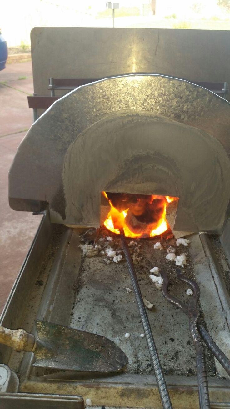 Hardwood charcol forge