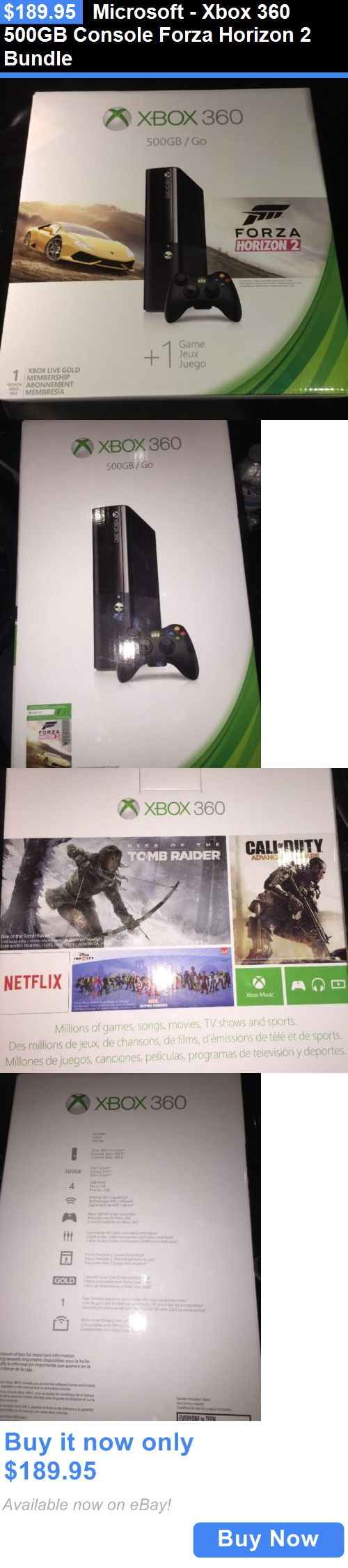 Video Gaming: Microsoft - Xbox 360 500Gb Console Forza Horizon 2 Bundle BUY IT NOW ONLY: $189.95