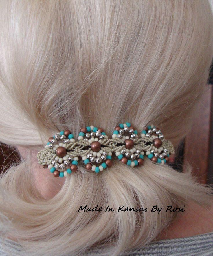 Micro-Macrame hair jewelry
