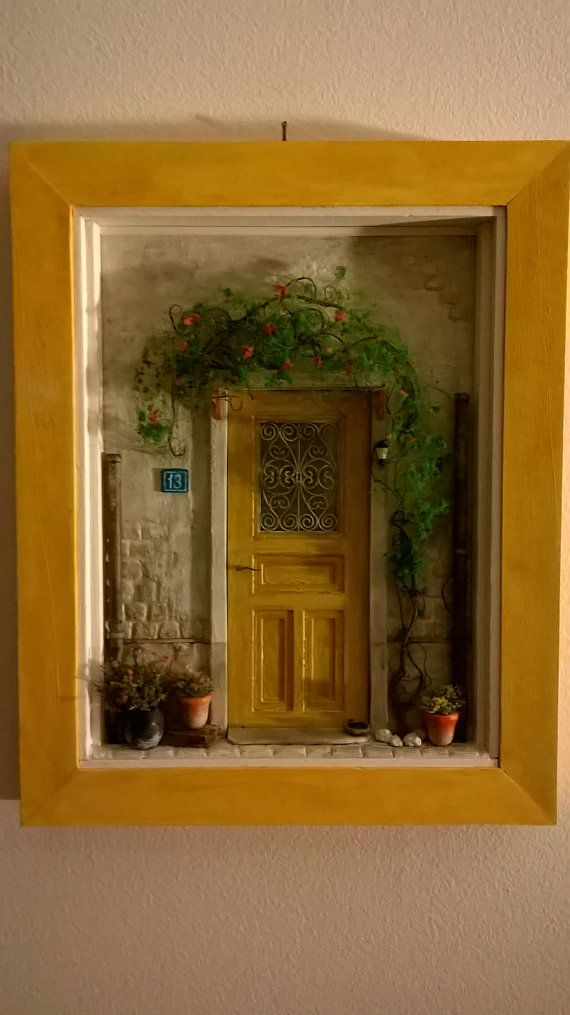 Door Art Dollhouse Miniature Door Art by ModartDiorama on Etsy
