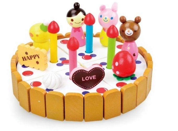 Торт ко дню рождения подарок деревянные сад клубничный серии Simulaiton мини торт ко дню рождения ребенок игрушки , что спектакли деревянные игрушки