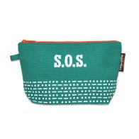 Pencil case  | Green | S.O.S. for Save our Species www.littlefrenchy.com.au #backtoschool #coqenpate #organic #pencilcase #Saveourspecies