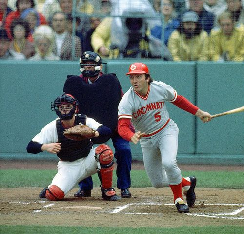 Johnny Bench and Carlton Fisk