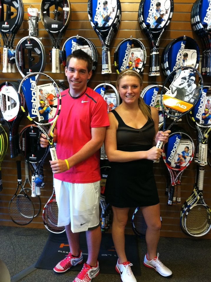 A huge congratulations to Maria Sharapova and Rafa Nadal the 2012 French Open Champions (so nice of them to take time out of their busy schedules to visit the store ;)! Now you can look like a champion from head to toe as Sturtevant's has the same apparel, racquets, and shoes worn by Rafa and Maria in the finals this weekend!