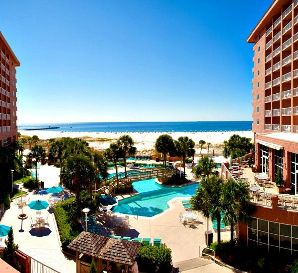 Perdido Beach Resort, a luxurious hotel with 346 newly-renovated guestrooms with private balconies, 45,000 square feet of indoor/outdoor meeting space, and several restaurants, including the award-winning Voyagers.