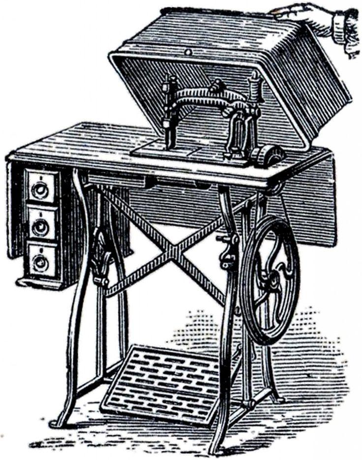 нотки картинки швейных машинок от старинных до современных людей испытывают