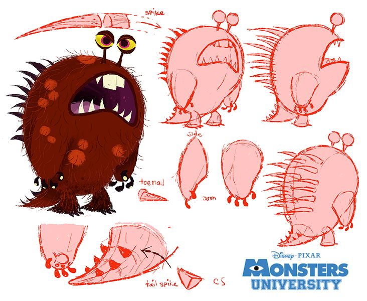 Character Design University : Best art of monsters inc university images