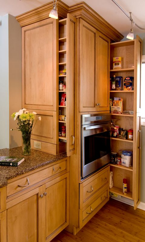 Home organizing ideas hidden spice rack naudinga for Hidden kitchen storage ideas
