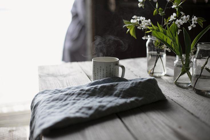 Lastu canovaccio di puro lino, grigio. \\ Lastu pure linen tea towel, grey.